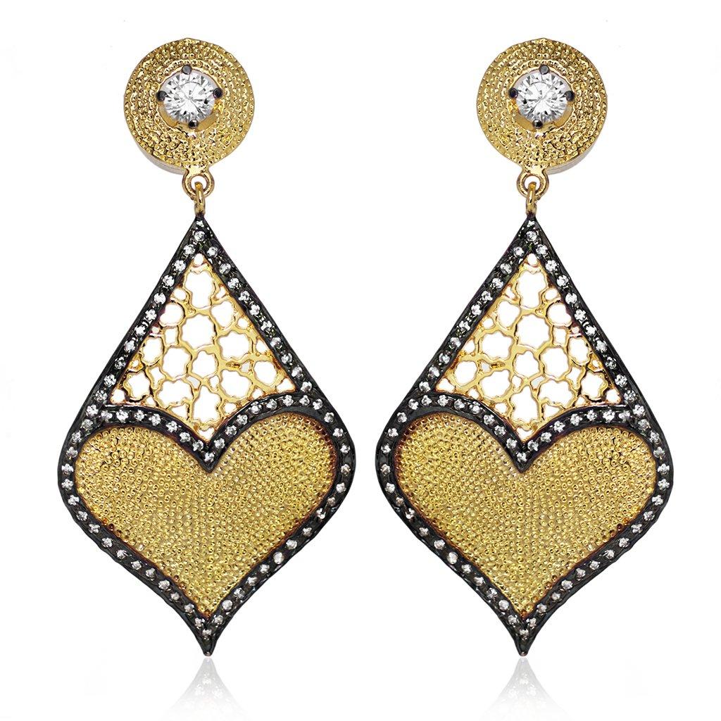 Beautiful Desigen Brass Earring