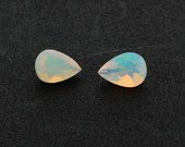 Certified Natural Ethiopian Opal AAA Quality 7x9 mm Faceted Pear pair loose gemstone