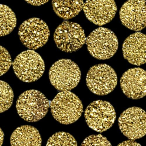 14mm  Natural  Gold Color Coating Flat Druzy Round 100 Pieces Lot Best Top Gold Color Loose Gemstone