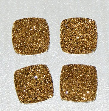 6mm Natural Gold Color Coating Flat Druzy Cushion 25 Pieces Lot Best Top Gold Color Loose Gemstone