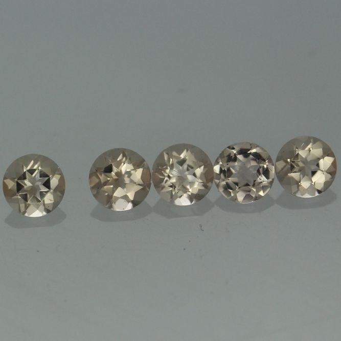Natural Morganite 4mm Round Cut Calibrated 5 Pieces Top Quality Peach Color Loose Gemstone