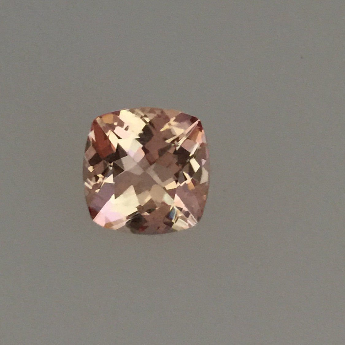 Natural Morganite 8mm Cushion  Faceted Cut 2 Piece Top Quality Peach Color Loose Gemstone