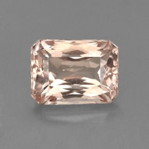 Natural Morganite 5x7mm Octagon  Faceted Cut 1 Piece Top Quality Peach Color Loose Gemstone