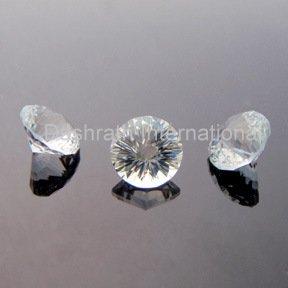 8mm Natural Crystal Quartz Concave Cut Round 1 Piece  Color White  Top Quality Loose Gemstone