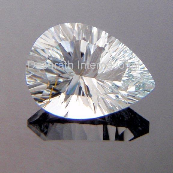 13X18mm Natural Crystal Quartz Concave Cut Pear 2 Piece (1 Pair ) Top Quality Loose Gemstone