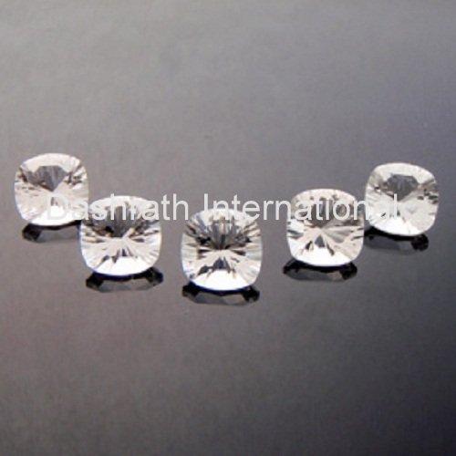 8mm Natural Crystal Quartz Concave Cut Cushion 25 Pieces Lot Top Quality Loose Gemstone