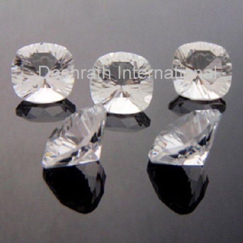 10mm Natural Crystal Quartz Concave Cut Cushion 5 Pieces Lot  Top Quality Loose Gemstone