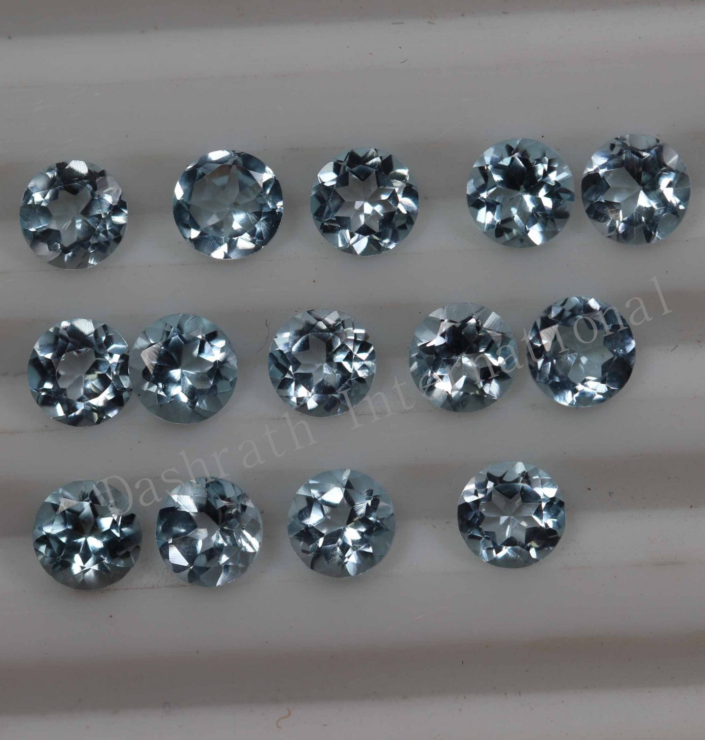 3mmNatural Sky Blue Topaz Faceted Cut Round 50 Pieces Lot Blue Color  Top Quality Loose Gemstone
