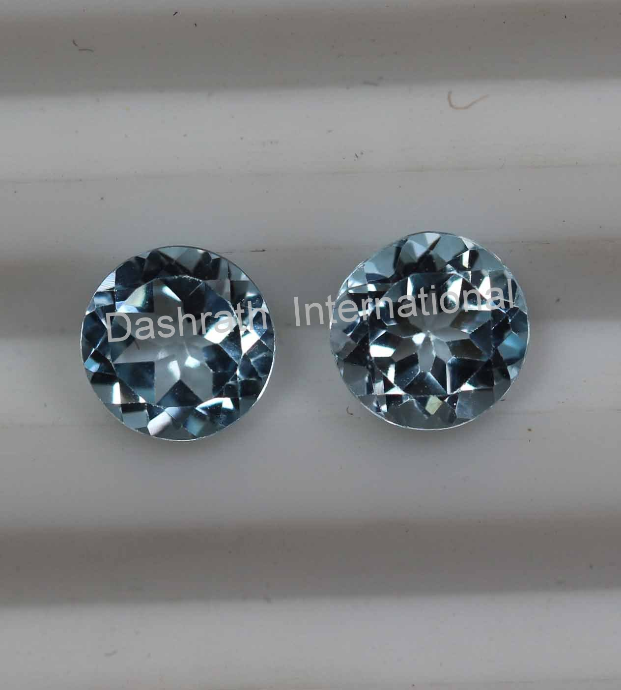 8mmNatural Sky Blue Topaz Faceted Cut Round 50 Pieces Lot Blue Color  Top Quality Loose Gemstone