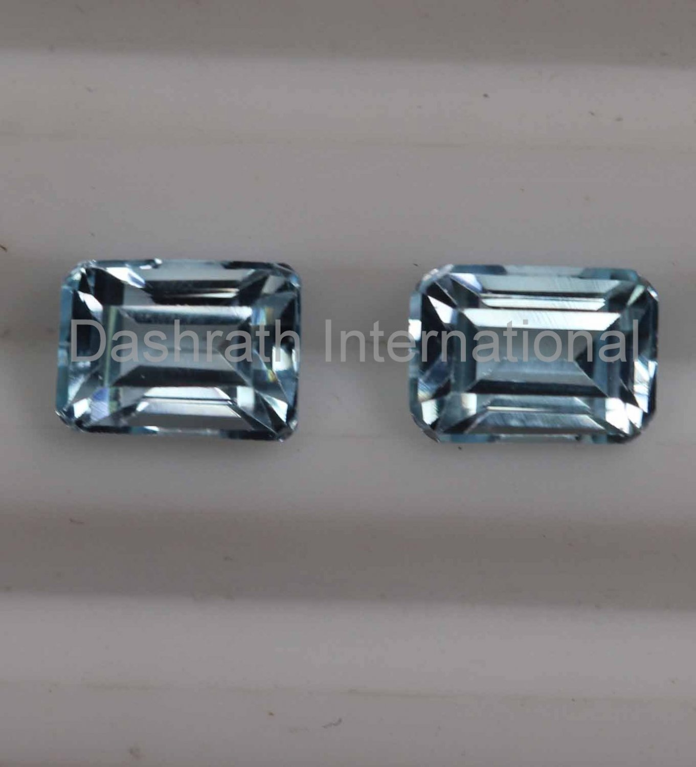 6x4mm Natural Sky Blue Topaz Faceted Cut Octagon 2 Piece (1 Pair )   Top Quality Loose Gemstone