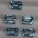 7x5mm Natural Sky Blue Topaz Faceted Cut Octagon 5 Pieces Lot     Top Quality Loose Gemstone