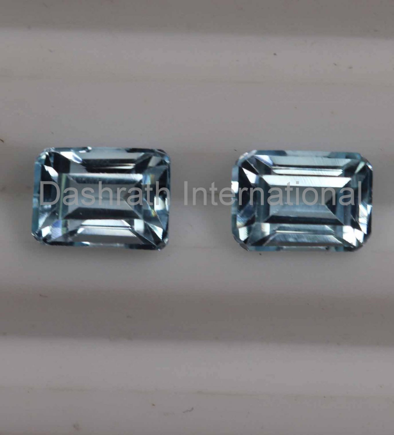 7x9mm Natural Sky Blue Topaz Faceted Cut Octagon 2 Piece (1 Pair )    Top Quality Loose Gemstone