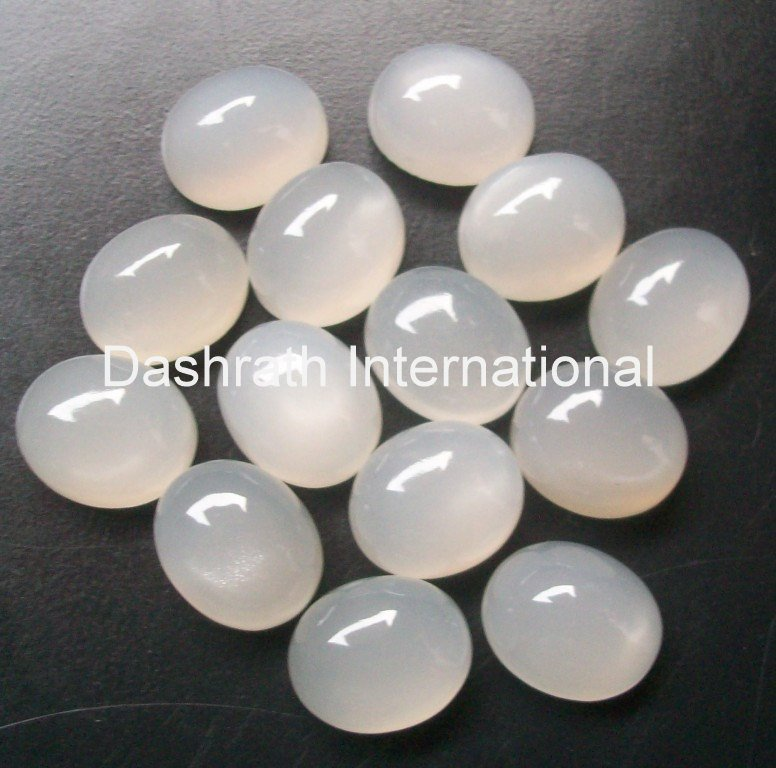 18x13mm Natural Gray Moonstone Cabochon Oval 5 Pieces Lot Gray Color Top Quality Loose Gemstone