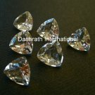 5mm Natural Crystal Quartz Faceted Cut Trillion 75 Pieces Lot    Top Quality Loose Gemstone
