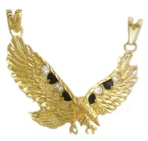 Eagle Pendant With Russian Cubic Zirconia CZP-173