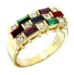 Swarovski Crystal Multi Colored Ring 55207