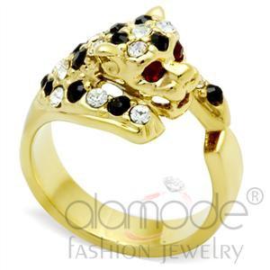 Leopard Swarovski Crystal Ring GL027
