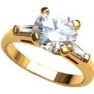 6.54 Huge Russian CZ Solitaire Ring 10312