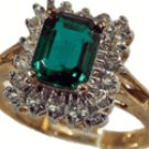Emerald Cut CZ Fashion Ring