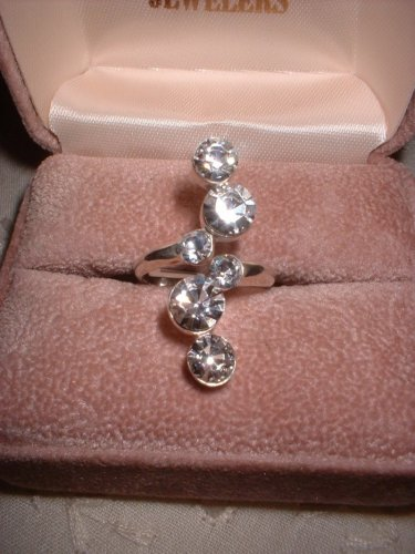 Journey Style Sterling Silver Six Stone Ring