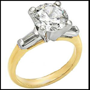 4 Carat Russian CZ Solitaire Ring 44604