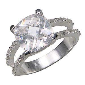SILVER BRITNEY  REPLICA ENGAGEMENT RING 6X202