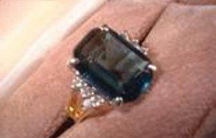 5+ Carat Sapphire CZ Ring 10125