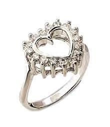 Sparkling Heart Ring  34713