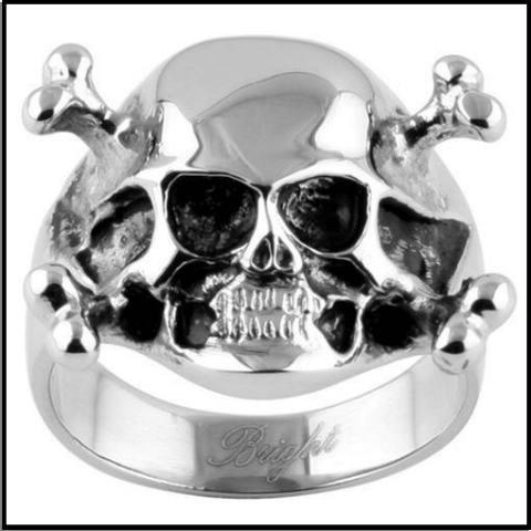 Skull And Crossbones Steel Ring SR-569