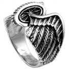 Freedom Wheel Wings Biker Steel Ring SR-529