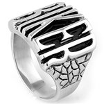 """BIKER"" Stainless Steel Ring SR-971-N"