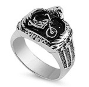 Eagle Motorcycle Stainless Steel Ring SR-476-N