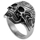 Carved Skull Stainless Steel Ring SR-527