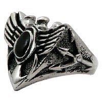 Eagle Winged Biker Stainless Steel Ring 1312