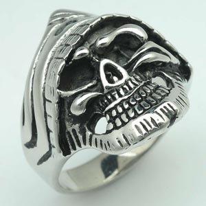 Grim Reaper Biker Stainless Steel Ring 131TP