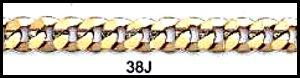 22 Inch  Gold or Rhodium Layered Curb Chain 38J