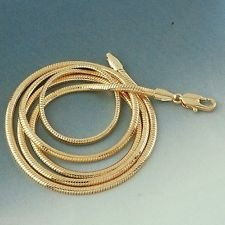 14K Gold Plated Snake Chain 16 Inch