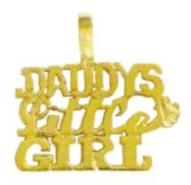 """DADDY'S LITTLE GIRL"" Pendant In Gold Or Rhodium w-68"