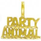 """Party Animal "" Pendant In Gold  w-149"