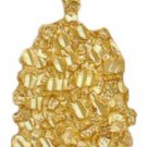 Diamond Cut Gold Nugget Pendant LG-32