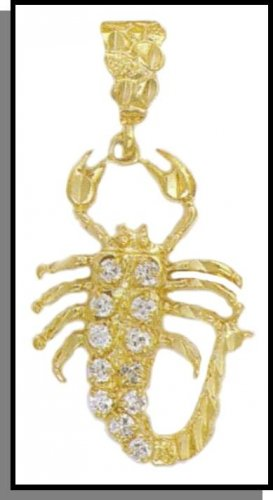 Scorpion Pendant With CZs In Gold Or Rhodium CZP-25
