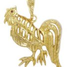 Game Rooster Pendant In Gold Or Rhodium czp-29