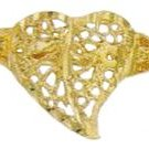 Filigree Heart Ring Gold or Rhodium Layered LN-26