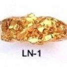 Diamond Cut Nugget Ring Gold Or Rhodium Layered LN-1