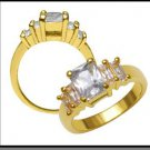 Russian CZ Ring Gold Or Rhodium Layered LR-131