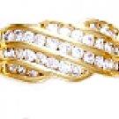 Wedding Band CZ Ring Gold Or Rhodium Layered LR-112