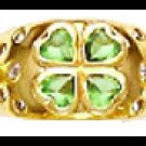 """Lucky At Love"" CZ Ring Gold Or Rhodium Layered LR-45"