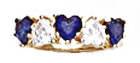 Hearts Eternity Sapphire CZ Gold Layered Ring LR-13
