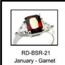 January Birthstone Ring Garnet CZ  RDBSR-21