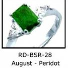 August Birthstone Ring Ruby Red CZ  RDBSR-28